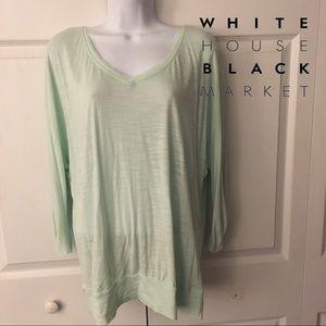 WHBM mint green top